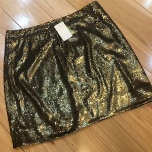 Kate Spade gold sequin Robbie skirt 12